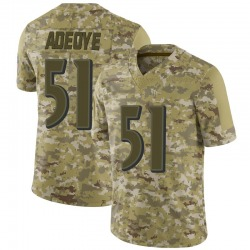 Nike Aaron Adeoye Baltimore Ravens Men's Limited Camo 2018 Salute to Service Jersey
