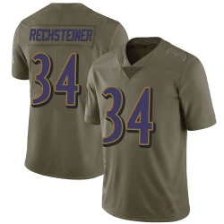 Nike Bronson Rechsteiner Baltimore Ravens Men's Limited Green 2017 Salute to Service Jersey